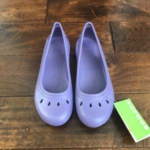 Purple crocs size 6Junior